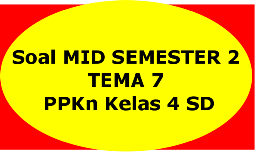 Soal MID SEMESTER 2 TEMA 7 PPKn Kelas 4 SD